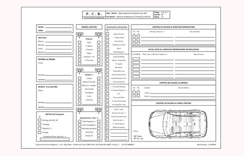 Plantilla revision de vehiculos